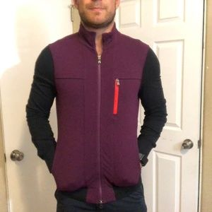 Lululemon Claret and Charcoal Zip Up Top M